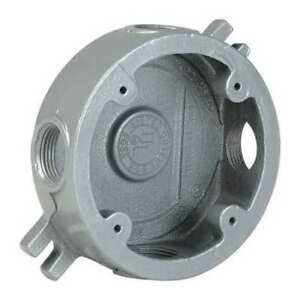 Round Outlet Box medium 1 2 Hub 2 25 d Hubbell Killark Vljx 1m