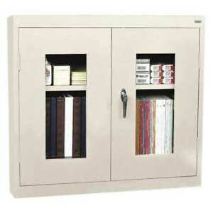 Wall Mount Storage Cabinet 36x30 putty Sandusky Waiv301226 07