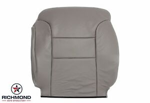 1998 1999 Chevy Tahoe Lt Ls driver Side Lean Back Leather Seat Cover Gray