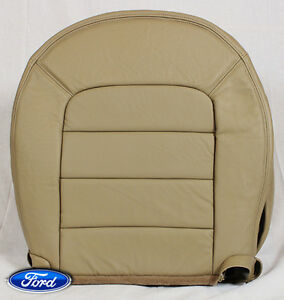 2002 Ford Explorer Limited Driver Side Bottom Replacement Leather Seat Cover Tan