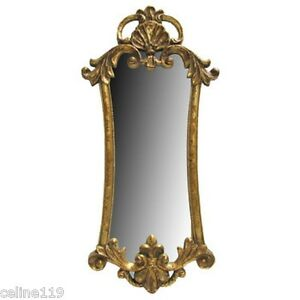 Large Regal Vintage Gold Gilt Rococo Baroque Style Wall Mirror