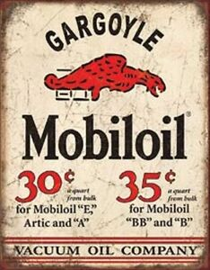 Mobil Oil Gargoyle Vintage Style Metal Signs Gas Pump Garage Man Cave Texaco