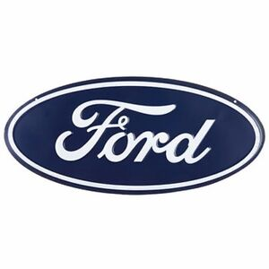 Ford Dealership Oval Emblem Metal Embossed Signs Garage Decor 9 X 20 New