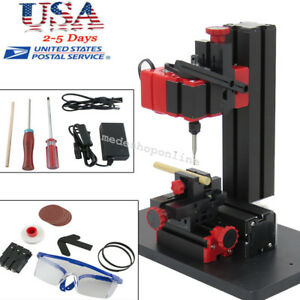 Portable Mini 6in1 Machine Wood Metal Diy Tool Jigsaw Milling Lathe Drilling Usa