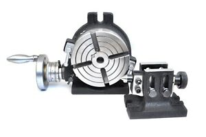 Rotary Table 6 Horizontal vertical Adjustable Tailstock Also With T Slot 16mm