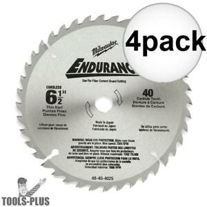 Milwaukee 48 40 4015 4pk Circular Saw Blade 6 1 2 48 Carbide Teeth New