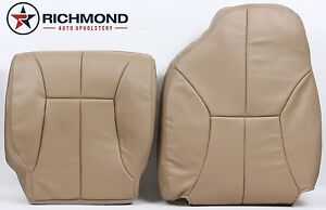 1999 Dodge Ram 2500 Slt Quad cab driver Side Complete Leather Seat Covers Tan