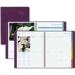At a glance Dayminder Floral Wkly mthly Planner G70159