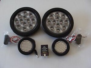 Fitsjeep 01 06 Wrangler Tail Light Kit 2 Tail Lights Clear 2 Backups And Relay