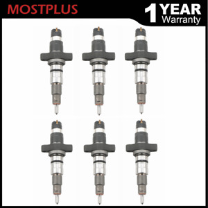 Set 6 Diesel Injector With Connector Tube Set For Dodge Ram Cummins 5 9l 04 09