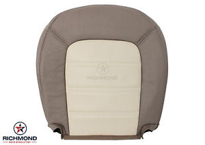 2004 Ford Explorer Eddie Bauer driver Side Bottom Leather Seat Cover 2 tone Tan