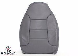 92 96 Ford Bronco Xlt Driver Side Lean Back Replacement Leather Seat Cover Gray