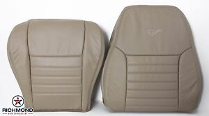 2000 2001 Mustang Gt Driver Side Complete Perforated Leather Seat Covers Tan