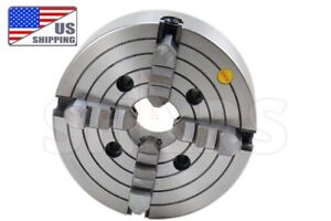 Shars 10 4 Jaw Independent Lathe Chuck Reversible Jaws Plain Back New