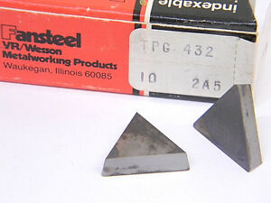 New Surplus 10pcs Vr wesson Carbide Inserts Tpg 432 Grade 2a5