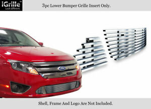 Fits 10 12 2011 2012 Ford Fusion Sport Bumper Stainless Steel Billet Grille