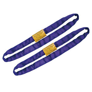 Endless Round Lifting Sling Heavy Duty Polyester Purple 4 Sold In Pair