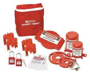 Brady 99680 Portable Lockout Kit 10 filled valve