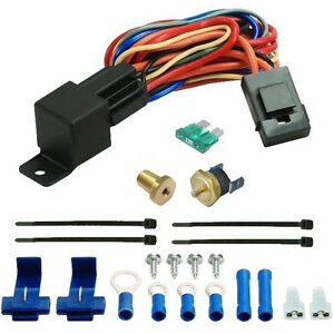 180f Electric Fan Thermostat Switch 1 8 Inch Npt Coolant Temperature Sensor Kit