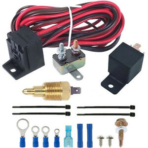 180 F Electric Radiator Engine Fan 3 8 Thermostat Temperature Switch Relay Kit
