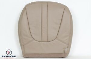 1997 1999 Ford Expedition Eddie Bauer Driver Side Bottom Leather Seat Cover Tan