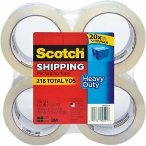 Scotch Heavy duty Shipping Packaging Tape 1 88 X 54 6 Y W