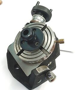 4 Inches 100 Mm Tilting Rotary Table With Er 20 Collet Adapter For Milling
