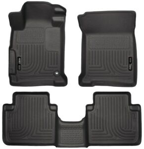 Husky 98481 2013 16 Honda Accord Weatherbeater Floor Mats All Weather Black Set