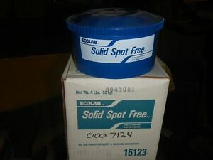 Ecolab Commercial Dishwasher Solid Spot Free Additive P n 15123 2 Boxes 8 Lbs