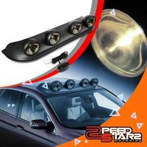 Smoke Top Roof Mounted Fog search Light Lamps switch harness h3 Bulbs Universal