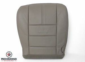 2008 Ford F250 Lariat driver Side Bottom Replacement Leather Seat Cover Gray
