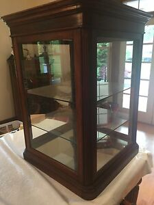 Display Case Walnut Table Top Case