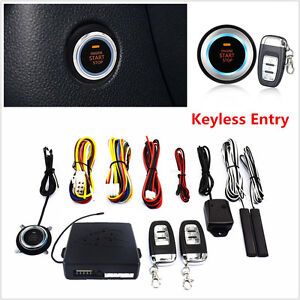 10pcs Car Alarm System Keyless Entry Engine Start Push Button Remote Starter 12v