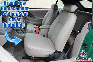 2001 2002 Ford Mustang V6 Convertible Driver Side Bottom Leather Seat Cover Gray