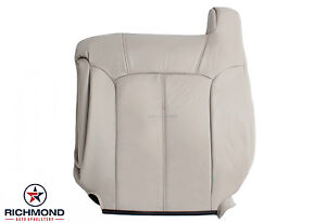 2002 Chevy Tahoe Z71 Driver Side Lean Back Replacement Leather Seat Cover Tan