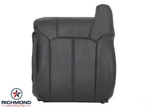 1999 2002 Chevy Silverado Lt Hd Driver Side Lean Back Leather Seat Cover Dk Gray