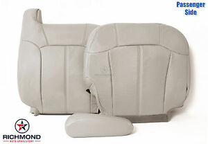2000 2002 Chevy Tahoe Suburban Passenger Side Complete Leather Seat Covers Tan