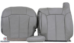 2000 2002 Chevy Tahoe Suburban Lt Driver Side Complete Leather Seat Covers Gray
