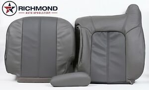 01 02 Yukon Xl 1500 Denali Driver Complete Replacement Leather Seat Covers Gray