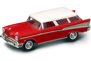 New In Box 143 Diecast 1957 Red Chevrolet Chevy Nomad For Mthlionel Amp K Line