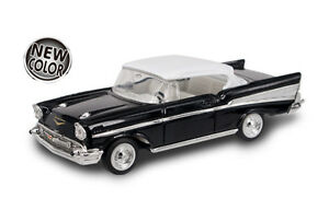 New In Box Road Signature 143 Diecast O Scale 1957 Chevrolet Bel Air Black