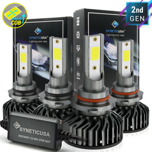 9005 9006 Combo 200w 20000lm Cree Led Headlight Kit High Low Beam Light Bulbs