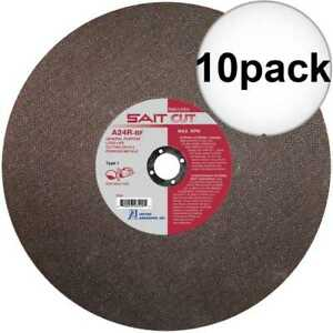 Sait 23450 14 X 1 X 1 8 Metal Cutting Wheel 10x New