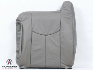 2003 2004 Chevy Tahoe Lt Z71 Ls driver Side Lean Back Leather Seat Cover Gray