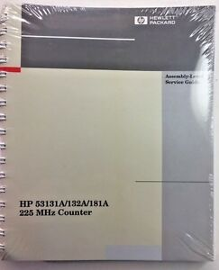 Hp 53131a 132a 181a 225mhz Counter Assembly level Service Guide P n 53131 90023