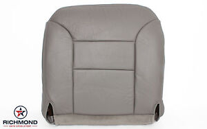 95 99 Chevy Suburban Tahoe 2500 Lt Ls Leather Driver Side Bottom Seat Cover Gray