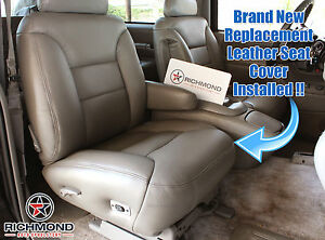 95 99 Chevy Tahoe Sport 2 Door Lifted Passenger Bottom Leather Seat Cover Tan