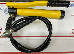 10 Ton Hydraulic Knockout Punch Pump Hose Green L Style Porta Power