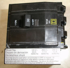 Square D Qo 3 Pole 15 20 30 40 50 60 Amp Shunt Trip Circuit Breaker Ships Today