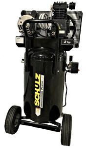 Schulz Air Compressor 2hp 1ph 110v 145psi 24gal Vertical Portable